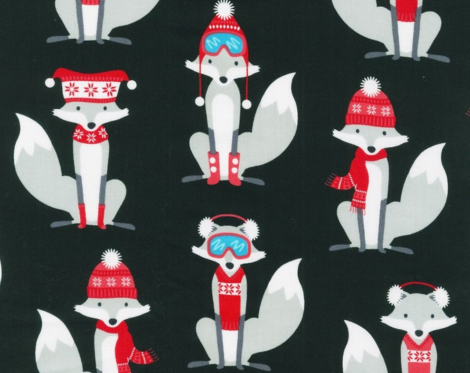 Polar Pals by Robert Kaufman - Black Fox - Cotton Woven Fabric