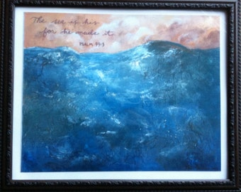 Psalm 95:5 Framed PRINT