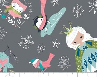 Princess Print Cotton Fabric, Quilting and Patchwork Fabric - Fat Quarter