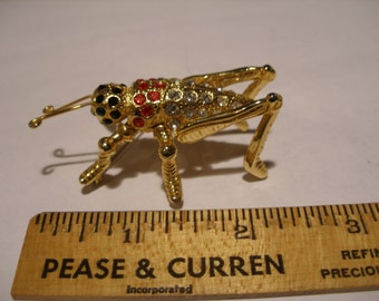 Large Rhinestone Cricket Brooch(329)