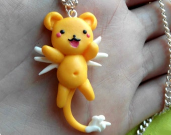 Kero Keychain or Necklace Keroberos Sakura Card Captor kawaii
