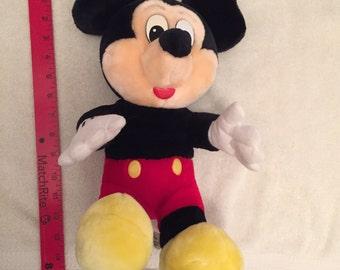 Large Vintage Disney Mickey Mouse Plush Toy