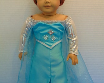 Frozen Elsa Costume for American Girl or 18 Inch Doll