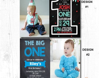 BOYS BIRTHDAY PARTY Invite, Boys Birthday Invitation Printable, Boys First Birthday Invite, 1st Birthday Invitation Boy