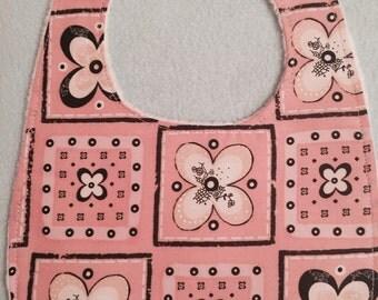Brown & Pink Patterned Baby Bibs