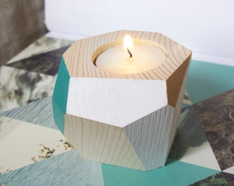 FOR SALE handmade wooden candle-holders