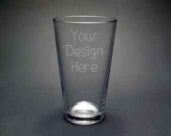 Custom Etched Pint glass