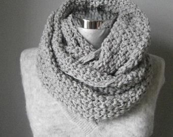 Knit infinity scarf women scarf knit scarf chunky knit scarf grey knit scarf knit infinity scarf women accessories knit scarf