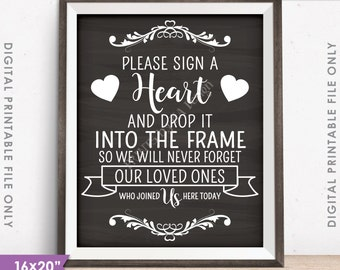 Heart Drop Guest Book Heart Guestbook Drop A Heart In Frame
