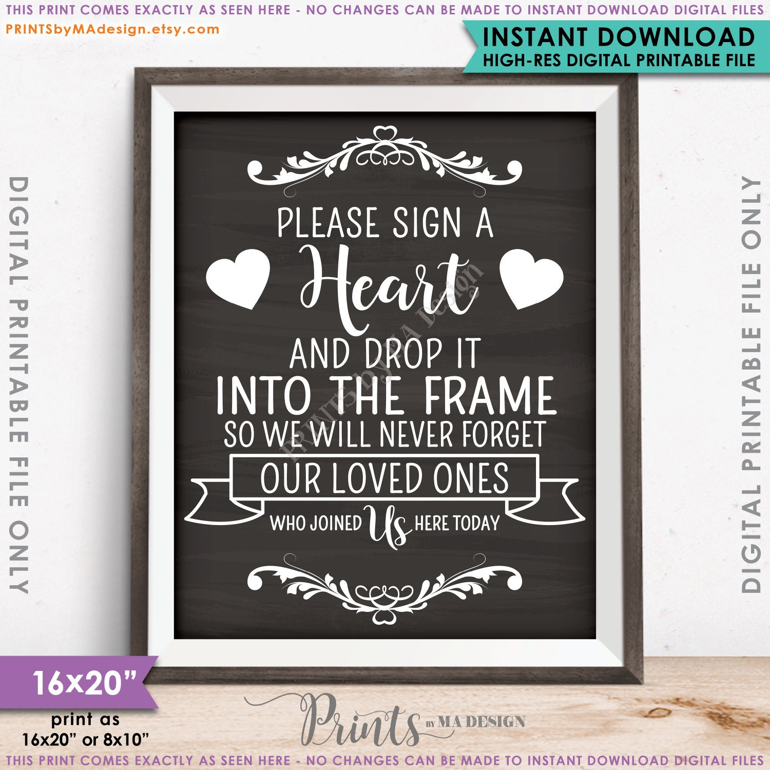 Guestbook Hearts Sign Sign A Heart Guest Book