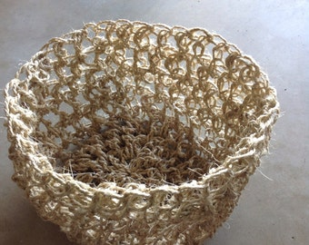 Handmade sisal basket