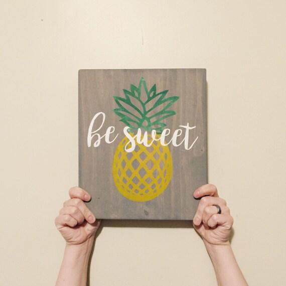 pineapple sign pineapple decor wooden sign home decor etsy favs pineapple home decor trend curio design studio