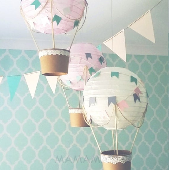 Items similar to whimsical hot air balloon decoration diy for Balloon decoration kits