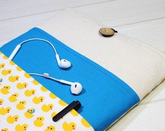 Rubber Duck iPad case, Ducky tablet case, iPad mini4 sleeve, iPad Mini case, unique iPad sleeve, 6 inch tablet case, yellow iPad case