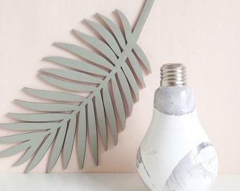 White marble lightbulb glass vase