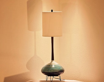 Restored Mid Century Modern Lamp and Shade
