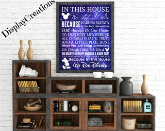 "Personalized ""In This House...We Do Disney"" Wall Art"