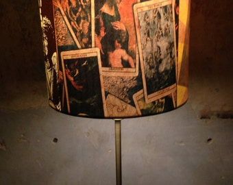 Early 20th Century Americana Carnival- Circus inspired Lampshade 'COLDBLUELOUISVOODOO'