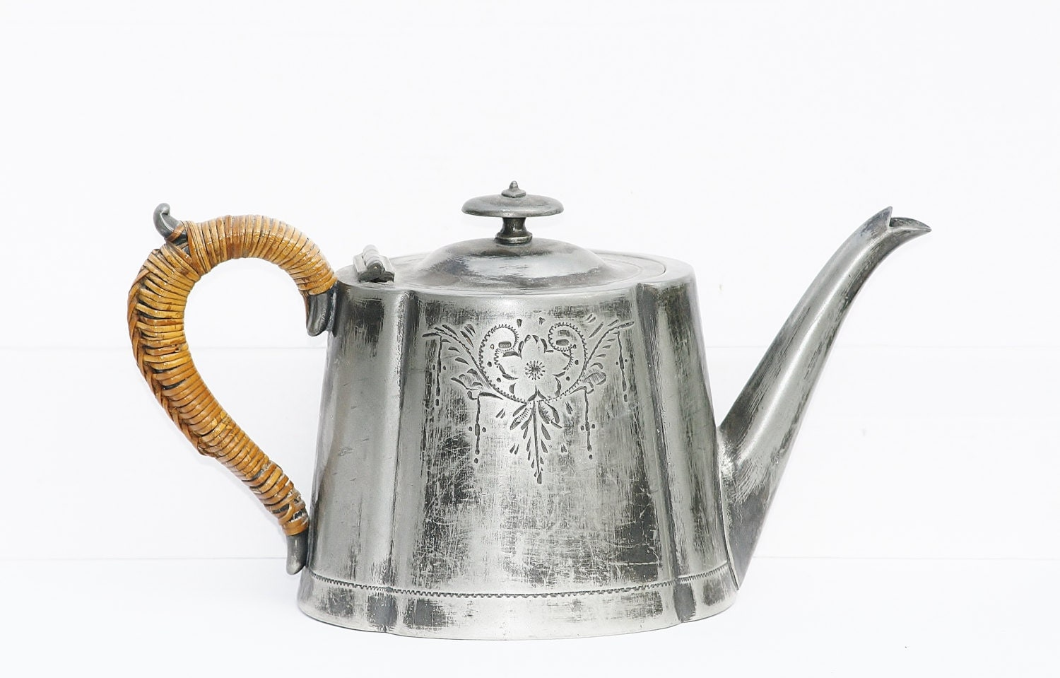 English Teapot Electroplated Teapot Silverplated Teapot Tl