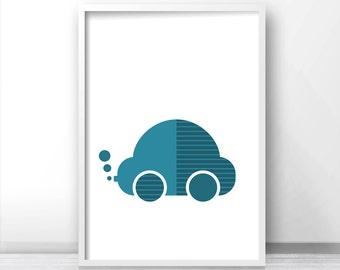 Printable Nursery Art, Baby Boy Nursery Print, Baby Wall Art Printable, Car Nursery Decor, Boys Room Print, Transportation Kids Art Print