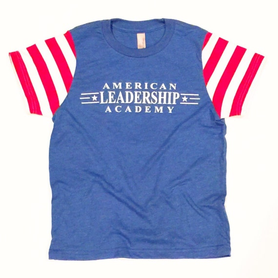 american leadership academy friday shirt adults size blue