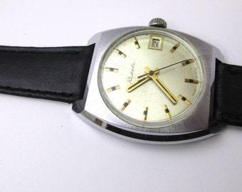 Mens Wrist Watch Raketa. Russian Watch RAKETA. USSR Soviet Watch. Mechanical Watch RAKETA