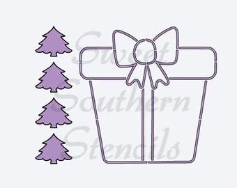 PYO Present Cookie Stencil