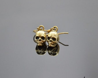 Earrings Skulls Bronze