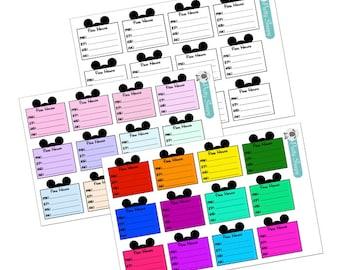 Walt Disney World Park Hours Trip Planning Stickers - Disney Planner Stickers