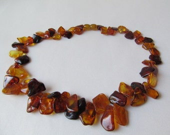 "Baltic Amber Necklace 17"" Sea-Buckthorn Style Cognac Baltic Amber necklace 23,9gr Natural Amber jewelry Handmade"