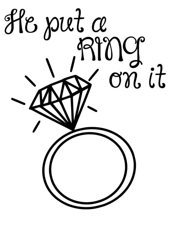 He put a Ring on it by SouthernPickedDesign on Etsy