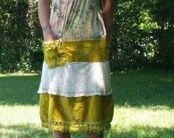 Handmade Vintage Gypsy Dress