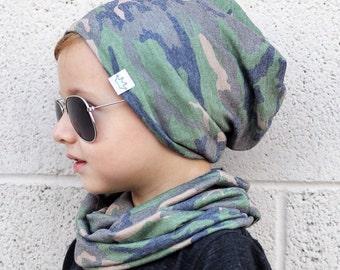 Baby slouchy beanie/ Toddler beanie/ Baby beanie/ Camo hipster beanie/ boys slouchy beanie/ Slouchy beanie/ Hipster beanie/ infant knit hat