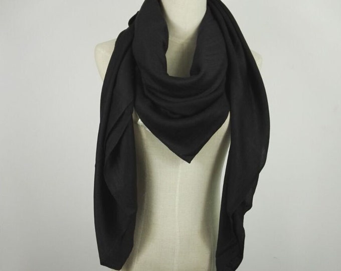 Black Pashmina Scarf Christmas Gifts Black Shawl Oversized Scarf Black Scarf Large Scarf Pashmina Scarf Black Winter Scarf Solid Black Scarf