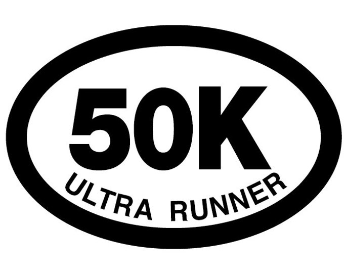 50K Ultra Runner Oval Decal Vinyl or Magnet Bumper Sticker