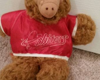 90's Alf hand puppet with Orbiters jersey