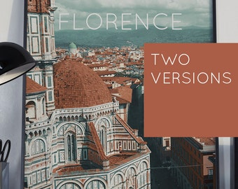 Florence, Italy Poster 11x17 18x24 24x36