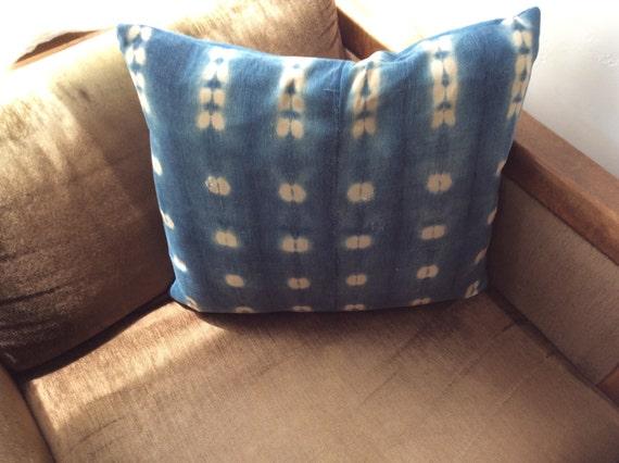 Handmade Mali Indigo Mud Cloth Pillow.  *5