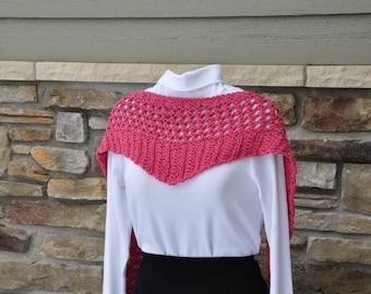 Pretty pink lace scarflet