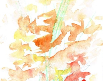 abstract painting - watercolor - flowers