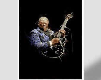 BB King - Blues Legend, guitarist, electric guitar, blues, music legend, music lover, gift print, Mississippi, United States