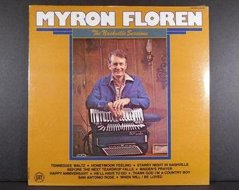 "Myron Floren  ""The Nashville Sessions""  Sealed Vintage Vinyl   /  Lawrence Welk Show Accordionist / Country Music / Happy Norwegian"