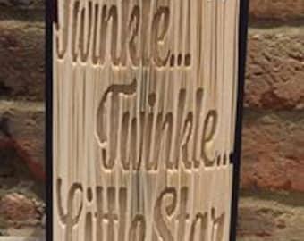 Twinkle Twinkle Book Sculpture, Folded Book Art