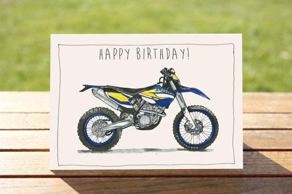 dirt bike birthday card Kenicandlecomfortzonecom