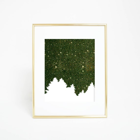 Christmas Art Print, Pine Tree Print, Evergreen Print, Pine Print, Christmas Print, Evergreen Art, Winter Decor, Christmas Artwork