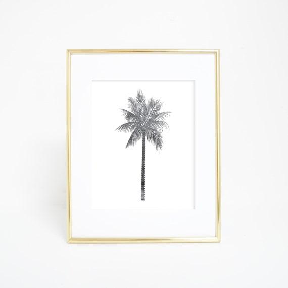 Palm Print, Black & White, Nursery Artwork, Palm Tree Print, Palm Tree Wall Art, Printable Art, Palm Prints, Beach Nursery, Trending Gifts