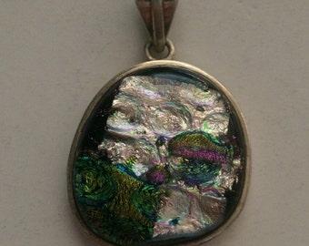 Sterling Silver Multi-Color Pendant