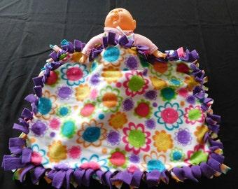 Rainbow Flower Doll Blanket