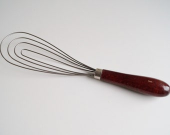 Manual Egg Beater Egg Whip Wire Steel Wire Egg Whisk Wooden Handle