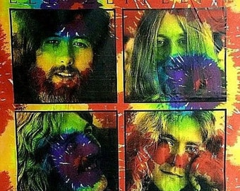 Led Zeppelin Tie Dye Tapestry - 60's  Wall Hanging - Trippy wall hanging - groovy art